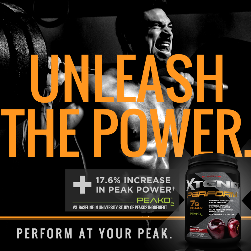Feel the power of new XTEND Perform with the revolutionary new power ingredient PeakO2.  #Perform21 #TeamScivation #XTEND