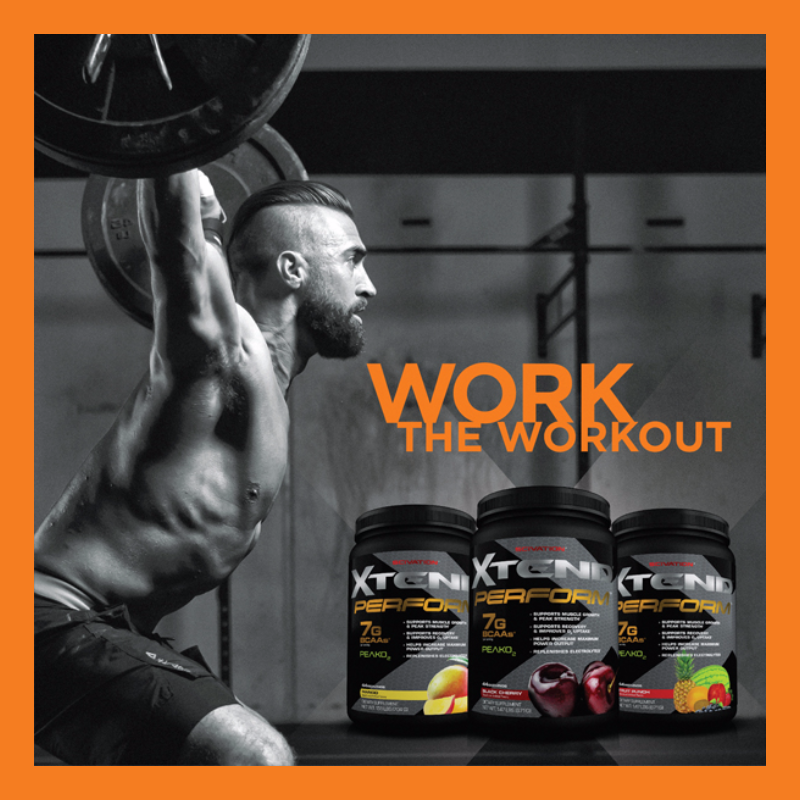 PeakO2, the new ingredient in Perform, has been shown to increase oxygen uptake in your muscles, maximize power output and endurance. Along with 7g of XTEND BCAAs, Perform lets you train harder and get more out of it. http://www.scivation.com/product/xtend-perform/ #XTEND #Perform21 #TeamScivation